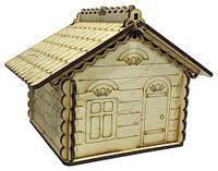 Будиночок №  2 скринька з 2а кришками 14*13*14см