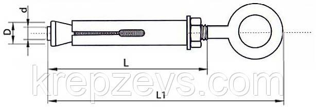 Анкер с кольцом однораспорный - конструкция