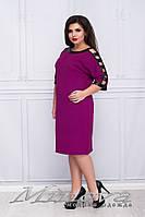 Платье женское. Ткань кукуруза, украшено вставками из эко-кожи. Размер 50, 52, 54, 56, 58, 60.  3 цвета