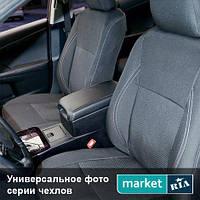 Чехлы для Ford Transit, Серый + Черный цвет, Автоткань