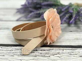 Нежный пояс с объемным декоративным цветком
