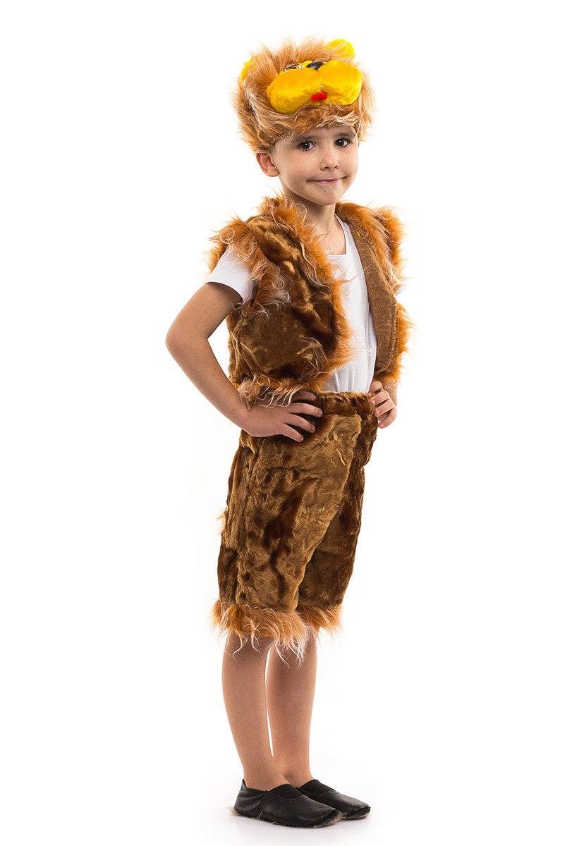 """Детский карнавальный меховой костюм """"Лев"""" для мальчика"""