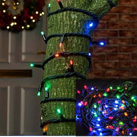 Светодиодная нить 10м, Микс, 100 LED уличная