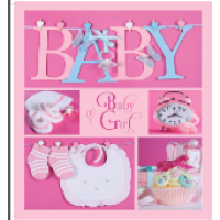 Альбом evg 20sheet baby collage pink w/box