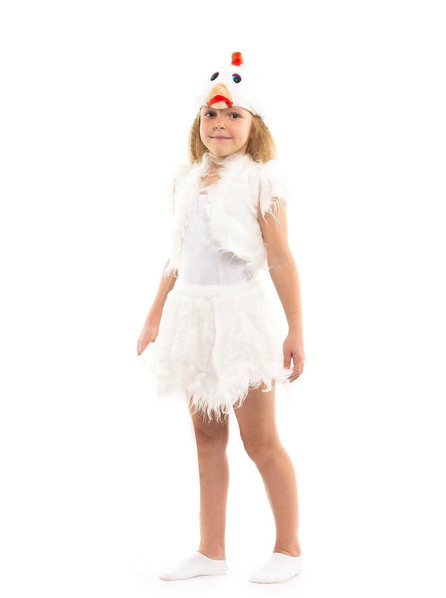 """Детский карнавальный меховой костюм """"Курочка"""" для девочки"""