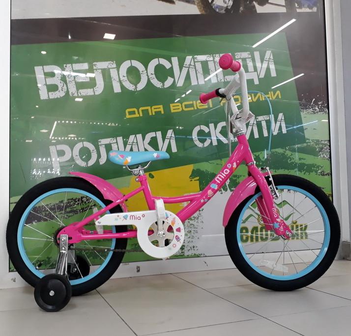 Велосипед Pride 18 MIA 2017 малиновый / белый / голубой / лак SKD-15-62