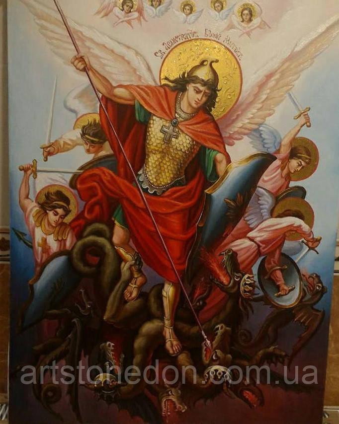Икона писаная Архистратига Михаила №2. Икона Архангела Михаила