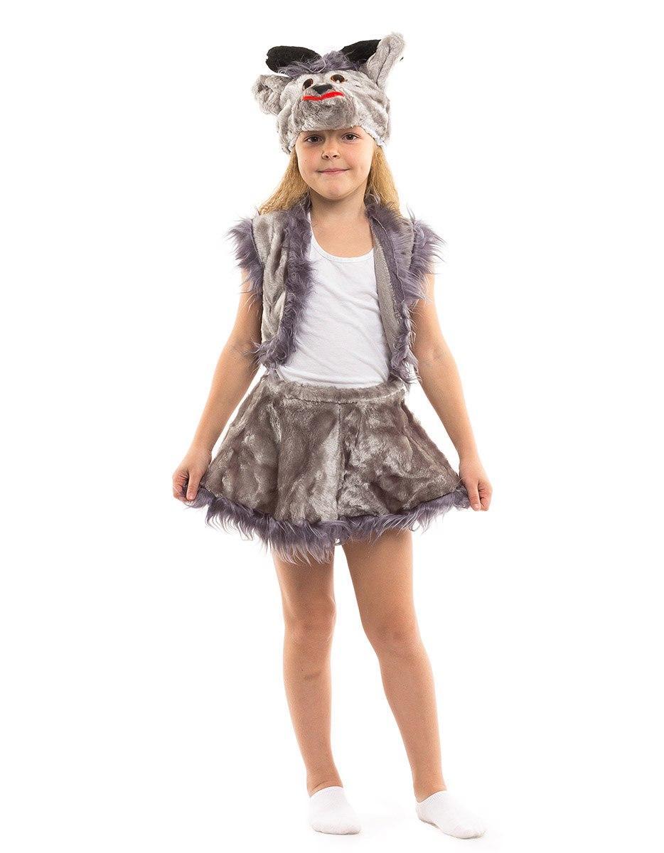 """Детский карнавальный меховой костюм """"Козочка"""" для девочки (2 цвета)"""