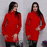 Теплое платье-свитер ан-11740-5
