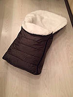 Теплый меховой конверт в санки зима разные цвета