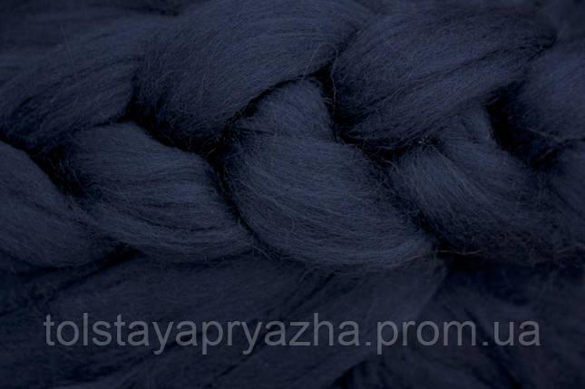 Вовна для пледа (товста пряжа) серія Крос, колір індиго, фото 2