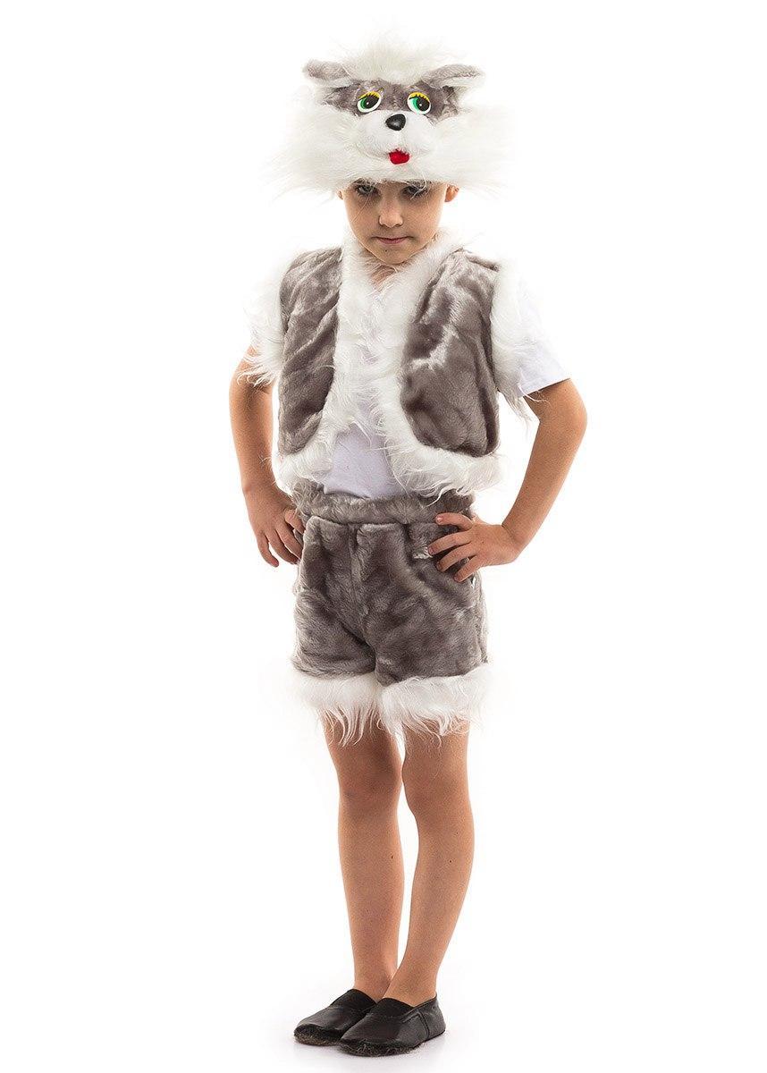 """Детский карнавальный меховой костюм """"Котик"""" для мальчика (4 цвета)"""