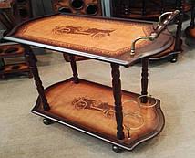 Столик - бар прямоугольный изготовлен из дерева