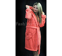 Женский махровый халат для дома