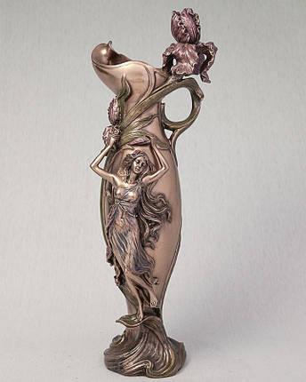 Ваза Девушка в орхидеях Veronese Италия (39 см) 10337 V4, фото 2
