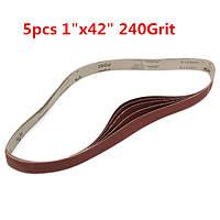 5pcs 106x2.5cm ремни глинозема шлифовка 240 грит самозатачивающимися оксидные абразивные полоски