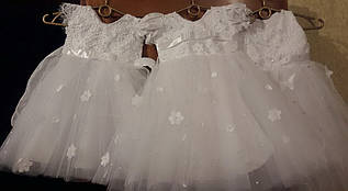 Детское праздничное нарядное фатиновое платье.