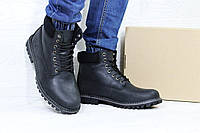 Мужские зимние ботинки Timberland черные РП-3745