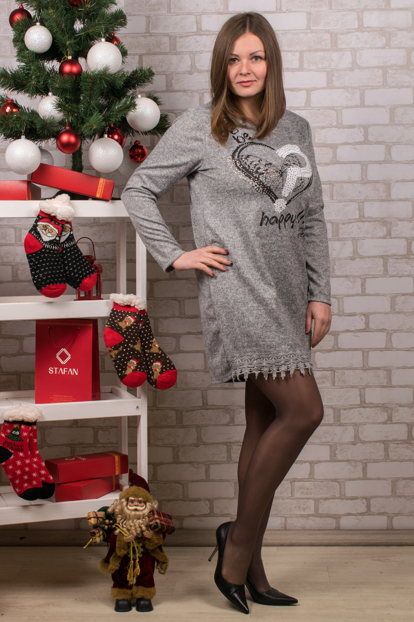 Женское теплое платье. RBOSSI P37. Размер 52-54.