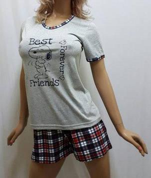 Пижама женская футболка и шорты код245, Харьков, от 44 до 50 р-ра, фото 2