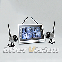 Комплект беспроводного видеонаблюдения с 2-мя камерами KIT-FHD122, фото 1