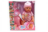 Интерактивная кукла Baby Born (беби бон). Пупс аналог с одеждой и аксессуарами 9 функций беби борн 8006-68A, фото 1