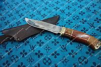 Нож охотничий Тигр сделано в Украине, ручная работа, кожаный чехол и паспорт