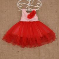 Платье  атласное с фатином для девочки