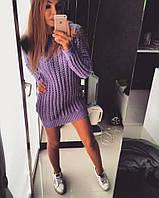 Платье -туника Дороти сиреневое