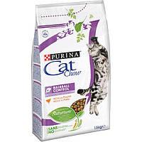 Purina Cat Chow Hairball Control Сухой корм для кошек Контроль вывода шерсти 1,5кг