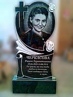 "Гранитный памятник резной ""Сердце"" 100 х 50 х 8"
