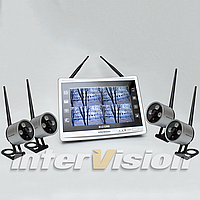 Комплект беспроводного видеонаблюдения с 4-мя камерами KIT-FHD124