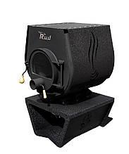 Отопительная конвекционная печь Rud Pyrotron Кантри 01 с варочной поверхностью Обшивка декоративная (коричневая)