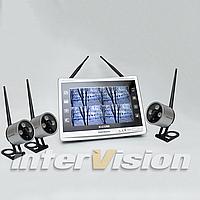 Комплект беспроводного видеонаблюдения с 3-мя камерами KIT-FHD123
