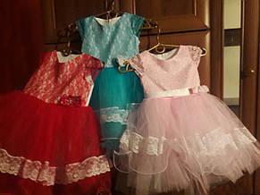 Детское праздничное нарядное кружевное платье из гипюра., фото 2