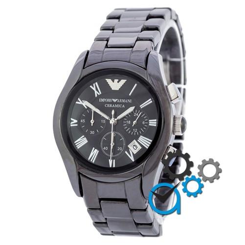 Часы Emporio Armani AAA AR1400 Black-Silver реплика - Магазин подарков  Часики в Харькове 5d3a1ac04b2