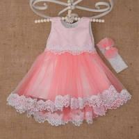 Платье Жасмин атласное с фатином для девочки