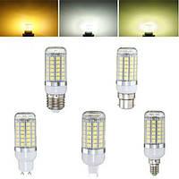 E27 E14 B22 G9 GU10 6W 69 SMD 5050 LED 450LM Чистый белый теплый белый натуральный белый кукуруза лампа AC220V
