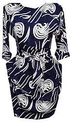 Платье женское пояс принт (деми)