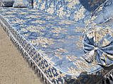 Качель садовая Spring-Swing Barokko Blue-Silver, фото 3