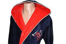 Мужской халат Дракон длинный с капюшоном, фото 3