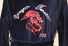 Мужской халат Дракон длинный с капюшоном, фото 2