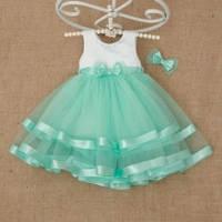 Платье Аленка с заколкой для девочки