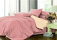 Двуспальное постельное белье, Сатин однотонный, микс №132+№169