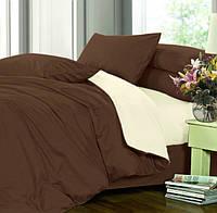 Двуспальное постельное белье, Сатин однотонный, микс №154+№001