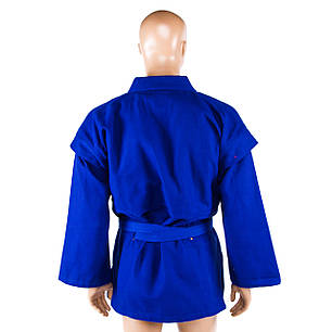 Самбовка, куртка+шорты(эластан), синий, рост 150, фото 2