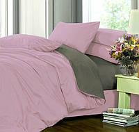 Полуторное постельное белье, Сатин однотонный, микс №005+№240