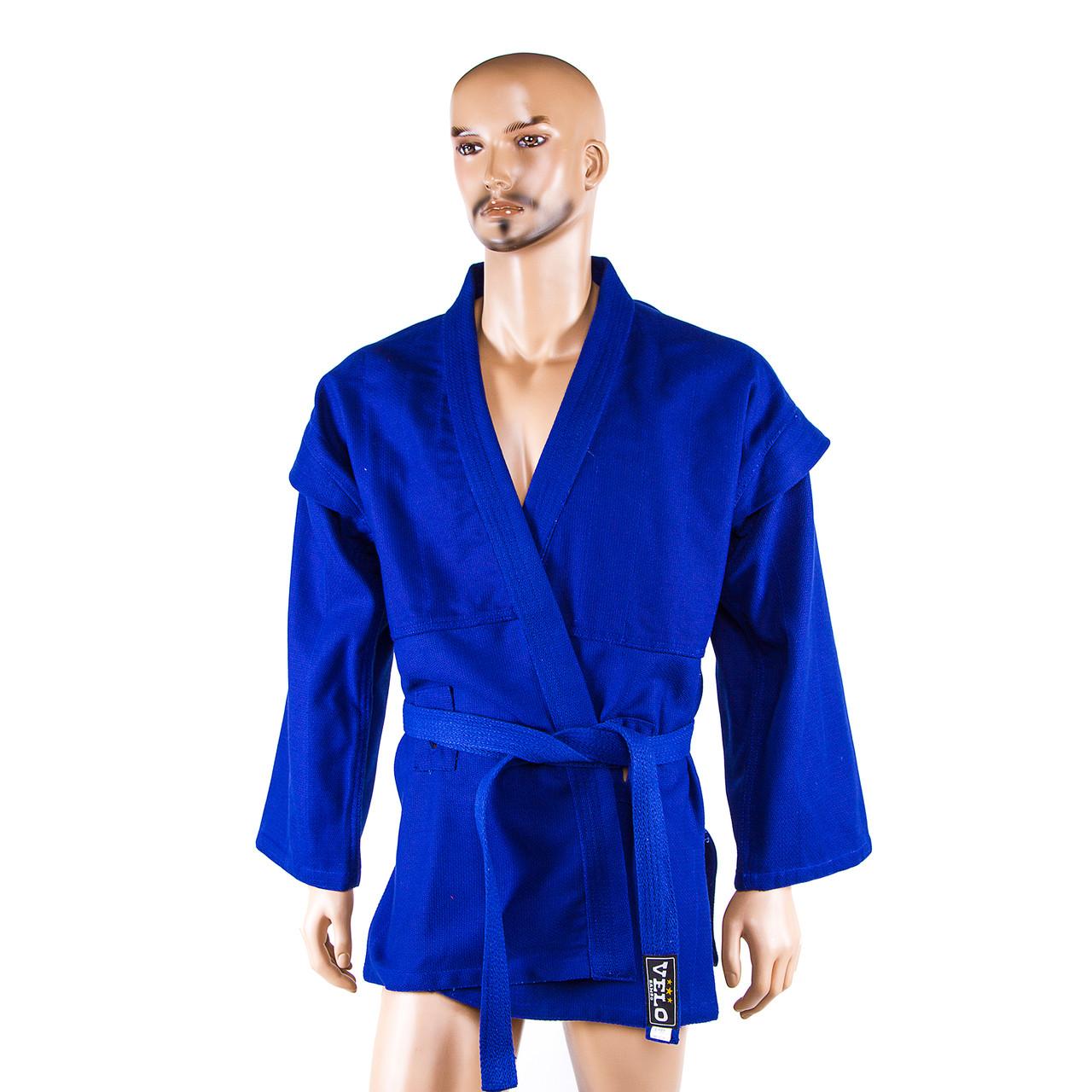 Самбовка, куртка+шорты(эластан), синий, рост 190