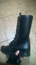 Берцы-ботинки зимние женские натуральная кожа черные Код 1215, фото 3