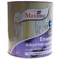 """Эмаль алкидная высококачественная по металлу и дереву """"Maxima"""" 2,8кг  Уценка"""